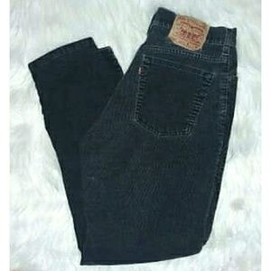 Vintage Levi Tapered Leg Relaxed Fit Black Jeans
